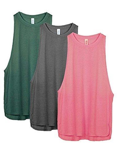 2296d4ab7 3 pack of super cute workout tanks for only $21! These come in a ton of  color options too! I got my normal size small, and they fit true to size.