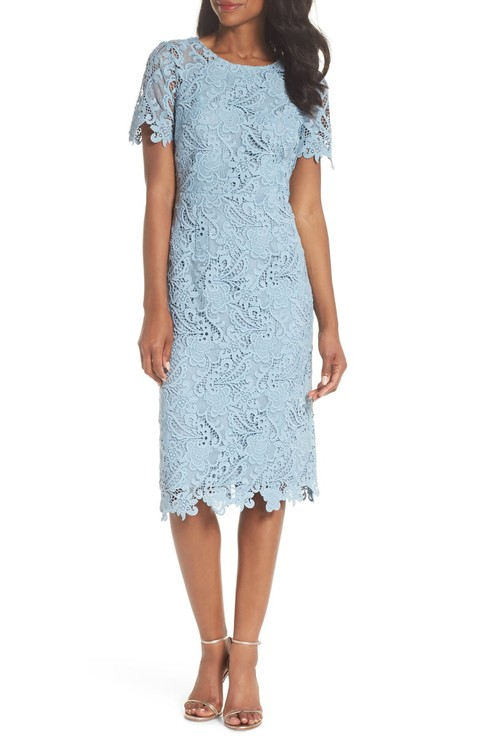 Pale And Light Blue Dresses To Wear A Wedding