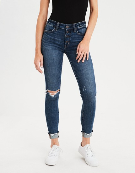 57b99ab1edf All AE jeans are BOGO 50% off right now! I get my normal size 4 and they  are TTS. LOVE the stretch on these!!!