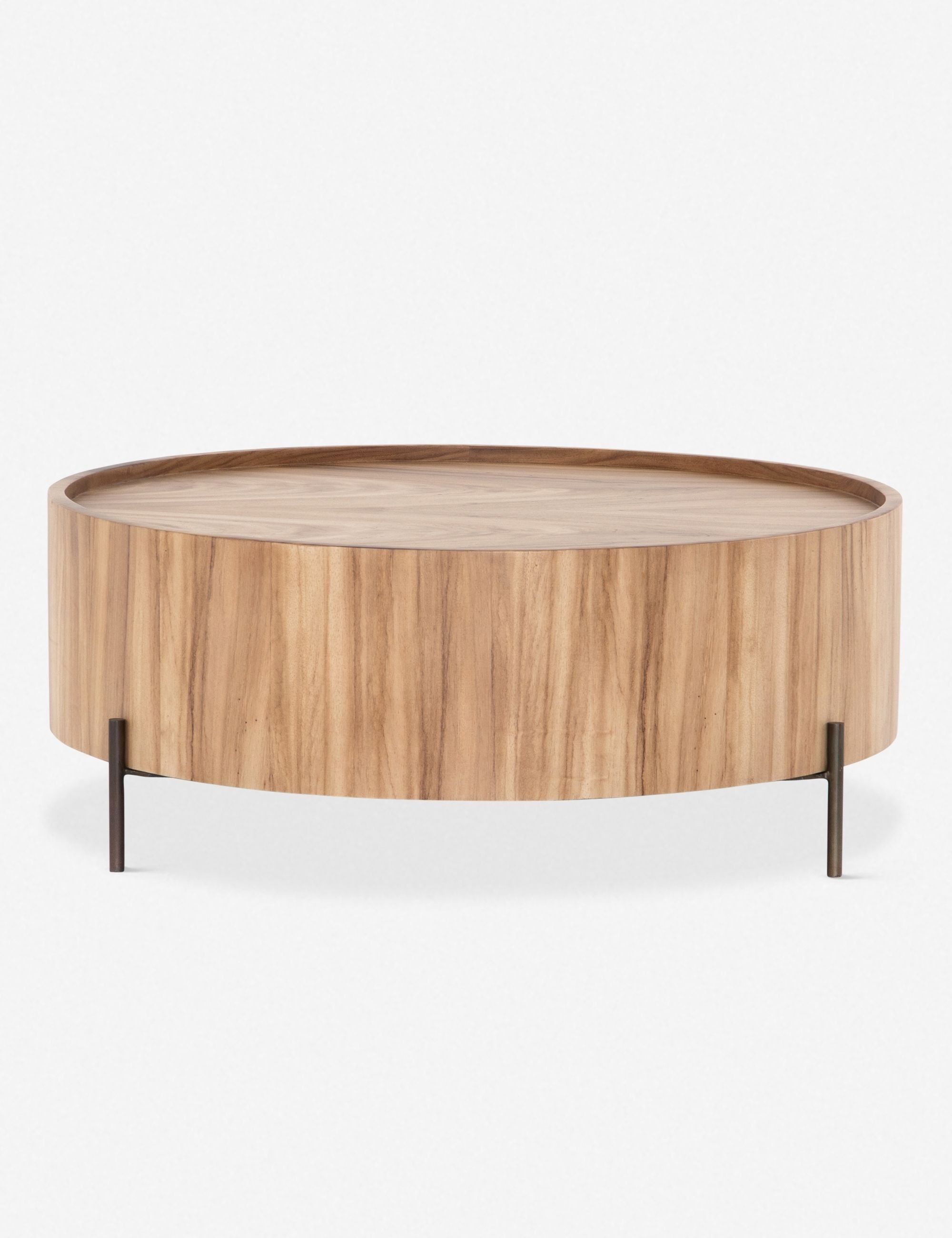 59 Low Round Wooden Coffee Table Idea