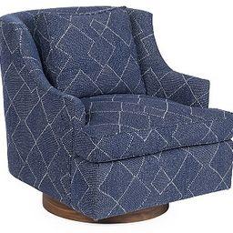 Palisades Swivel Chair, Indigo | One Kings Lane