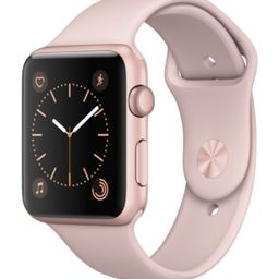 Apple Watch Series 1 42mm Rose Gold Aluminum Case with Pink Sand Sport Band | Macys (US)