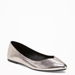 Old Navy Sueded Pointy Ballet Flats For Women Size 8 - Pewter | Old Navy US