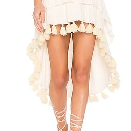 MISA Los Angeles Santina Skirt in Cream. - size L (also in M,S,XS) | Revolve Clothing