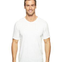 Calvin Klein Jeans - Mixed Media V-Neck Tee (White Wash) Men's T Shirt | Zappos