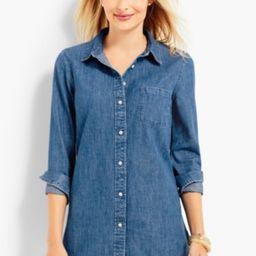 Talbots Women's The Classic Denim Shirt: Rhine Wash | Talbots