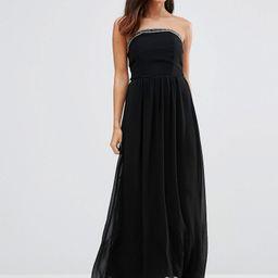 Little Mistress Bandeau Maxi Dress with Embellishment - Black | Asos AU