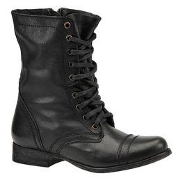 Steve Madden Women's Troopa Black Boot 6.5 M | Shoemall.com