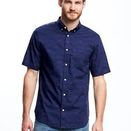 Old Navy Regular Fit Soft Washed Classic Shirt For Men Size L Tall - Navy blue | Old Navy US