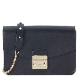 Furla Metropolis Black Leather Shoulder Bag | Italist.com US