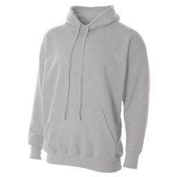 Men's Fleece Heather Grey Hoodie (XL) | Overstock
