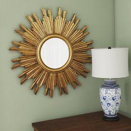 Sunburst Round Mirror   Wayfair North America