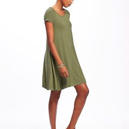 Old Navy Jersey Swing Dress For Women Size L Tall - Hunter pines | Old Navy US