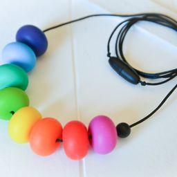 Rainbow Abacus Silicone Teether Baby Nursing Necklace | Etsy AU