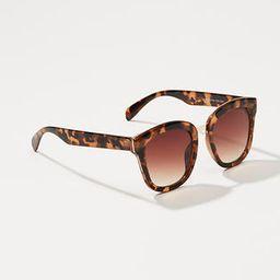LOFT Tortoiseshell Print Square Sunglasses | LOFT