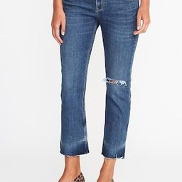 Old Navy Mid Rise Distressed Flare Ankle Jeans For Women Size 0 Regular - Medium bright wash | Old Navy US