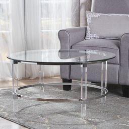 Elowen Round  Glass Coffee Table by Christopher Knight Home | Overstock