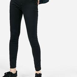 Express Womens Black Mid Rise Stretch+ Jeggings, Women's Size:16 Short Black 16 Short   Express
