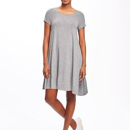 Old Navy Jersey Swing Dress For Women Size L Tall - Heather gray | Old Navy US