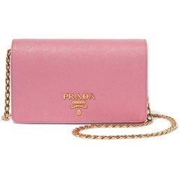 Prada - Textured-leather Shoulder Bag - Baby pink | Net-a-Porter (Global excpt. US)