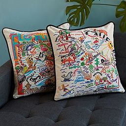 Hand Embroidered State Pillows   Uncommon Goods