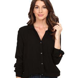 Three Dots - Ariana - Button Down Shirt (Black) Women's Clothing | 6pm