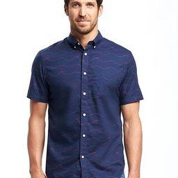 Old Navy Slim Fit Classic Poplin Shirt For Men Size XXXL Big - Navy blue | Old Navy US
