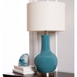 Abbyson Gourd Blue Ceramic 29-inch Table Lamp   Overstock