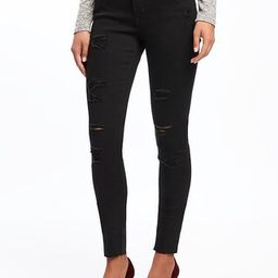 Old Navy Mid Rise Raw Edge Rockstar Jeans For Women Size 0 Regular - Blackjack | Old Navy US