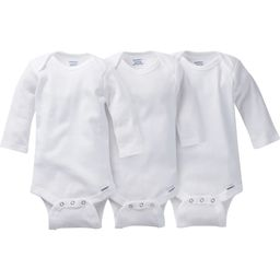 Gerber 3 Pack Long Sleeve White Onesies Bodysuits | JCPenney