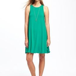 Old Navy Jersey Swing Dress For Women Size L Tall - Dreamy green | Old Navy US
