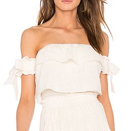 MISA Los Angeles Amaia Top in Cream. - size L (also in M,S,XS) | Revolve Clothing