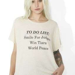 Wildfox Couture Pageant List Tee | Dolls Kill