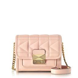 Karl Lagerfeld Designer Handbags, Light Pink K/Kuilted Crossbody Bag | Forzieri US & CA