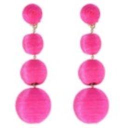The Lido: A Bon Bon Style Pom Pom Earring Bougainvillea Pink | Etsy (US)