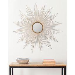 "Safavieh Marinda Braided Gold 41-inch Sunburst Mirror - 41"" x 41"" x 0.8""   Overstock"