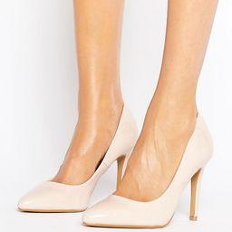Head Over Heels By Dune Alice Nude Patent Heeled Pumps - Beige | ASOS US