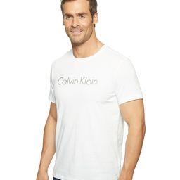 Calvin Klein - Space Dyed Calvin Klein Logo Jersey Tee (White) Men's T Shirt | Zappos