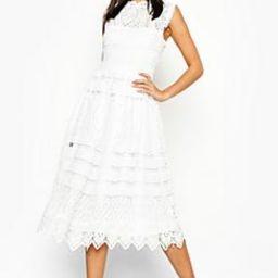 Boutique  Lace Midi Skater Dress   Boohoo.com (US & CA)
