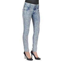 C'est Toi Denim Acid Washed Skinny Jeans | Overstock