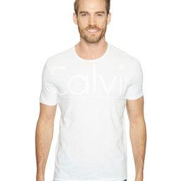 Calvin Klein Jeans - Oversized Calvin Logo Tee (White Wash) Men's T Shirt | Zappos