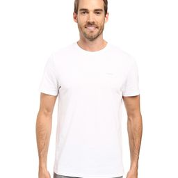 Calvin Klein - Short Sleeve Pima Cotton Crew T-Shirt (White) Men's T Shirt | Zappos