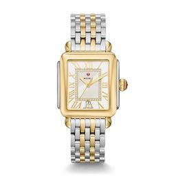 Michele Deco Madison Two-Tone, Diamond Dial Watch Mww06t000147 Silver | Michele Watches