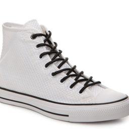 Men's Chuck Taylor All Star Woven High-Top Sneaker -White/Black | DSW