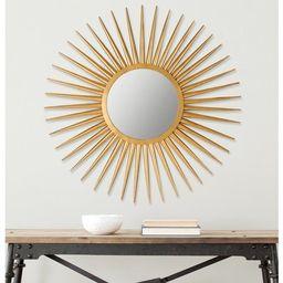 Safavieh Radiant Flair Gold 36-inch Sunburst Mirror   Overstock