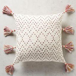 Tasseled Pointilliste Pillow   Anthropologie (US)