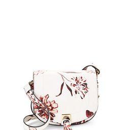 IVANKA TRUMP Floral Leather Saddle Bag | Lord & Taylor