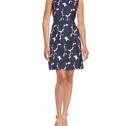 IVANKA TRUMP Floral Jacquard Fit-and-Flare Dress | Lord & Taylor