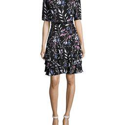 IVANKA TRUMP Floral Tiered Dress | Lord & Taylor