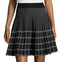 IVANKA TRUMP Geometric Knit Skirt | Lord & Taylor